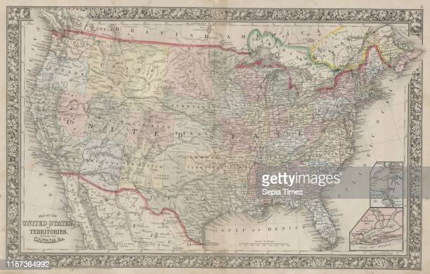 1864 Mitchell Map of the United States