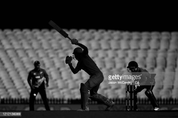 Mitchell Marsh of Australia bats during game one of the One Day International series between Australia and New Zealand at Sydney Cricket Ground on...
