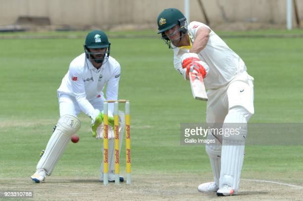 Mitchell Marsh of Australia during day 2 of the Tour match between South Africa A and Australia at Sahara Park Willowmoore on February 23 2018 in...