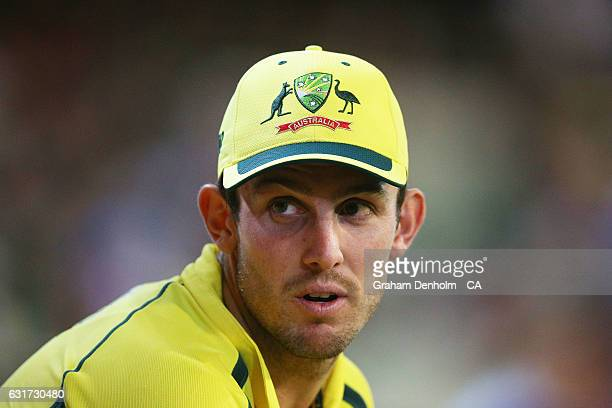 Mitchell Marsh of Australia looks on during game two of the One Day International series between Australia and Pakistan at Melbourne Cricket Ground...