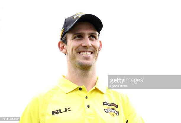 Mitchell Marsh of the Warriors looks on during the JLT One Day Cup Final match between Western Australia and South Australia at Blundstone Arena on...
