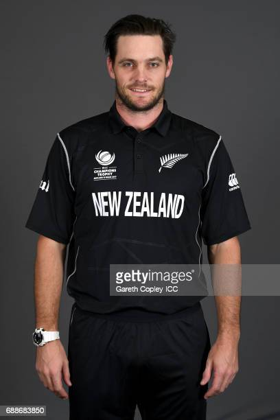 Mitchell McClenaghan of New Zealand poses for a portrait at the team hotel on May 25 2017 in London England