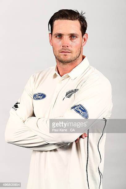 Mitchell McClenaghan poses during a New Zealand Black Caps headshots session at the WACA on November 12 2015 in Perth Australia