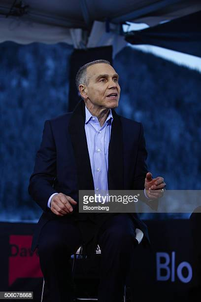 Mitchell Mitch Julis co chief executive officer of Canyon Capital Advisors LLC speaks during a Bloomberg Television interview at the World Economic...