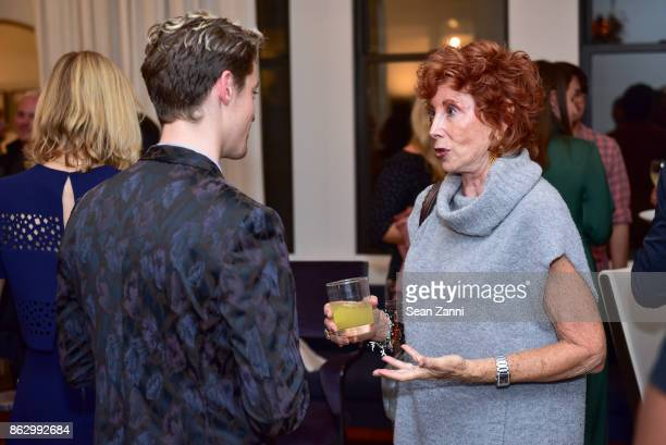 Mitchell Moon and Gail ShieldsMiller attend Tom Faulkner at Angela Brown Ltd on October 18 2017 in New York City