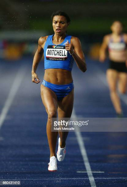 Mitchell Morgan of Victoria competes in the womens open 400m during day five of the 2017 Australian Athletics Championships at Sydney Olympic Park...
