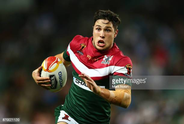 Mitchell Moses of Lebanon in action during the 2017 Rugby League World Cup match between England and Lebanon at Allianz Stadium on November 4 2017 in...