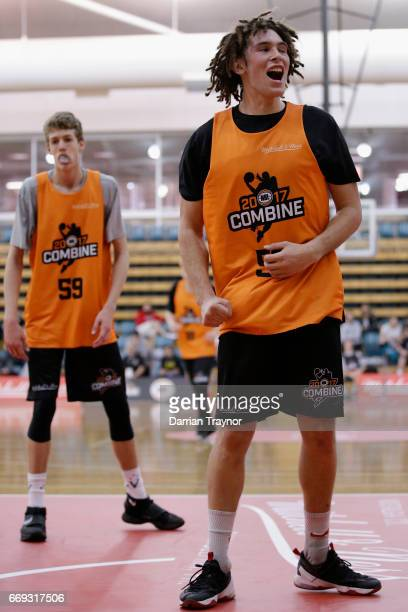 Mitchell Newton reacts after missing a shot during the NBL Combine 2017/18 at Melbourne Sports and Aquatic Centre on April 17 2017 in Melbourne...