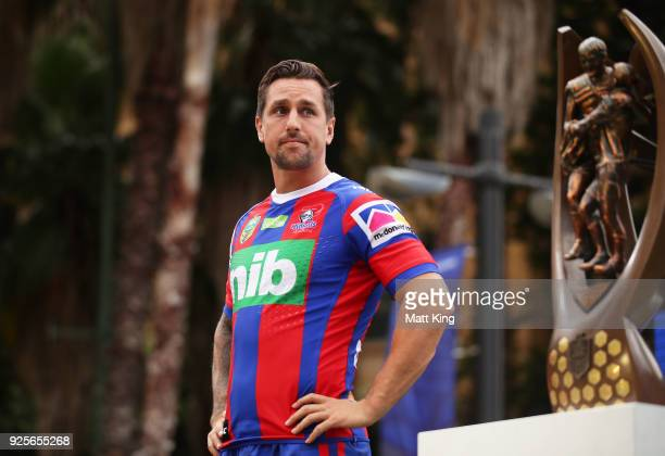 Mitchell Pearce of the Knights looks on during the 2018 NRL season launch at First Fleet Park on March 1 2018 in Sydney Australia