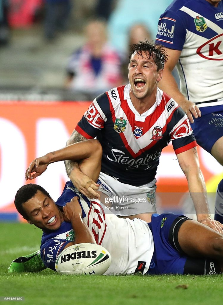 NRL Rd 11 - Bulldogs v Roosters