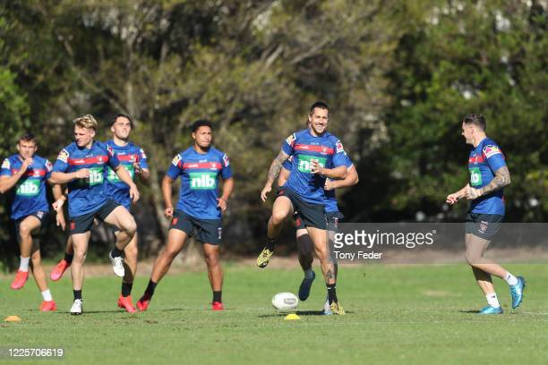 Mitchell Pearce trains during a Newcastle Knights NRL training session at Wests Mayfield on May 19, 2020 in Newcastle, Australia.