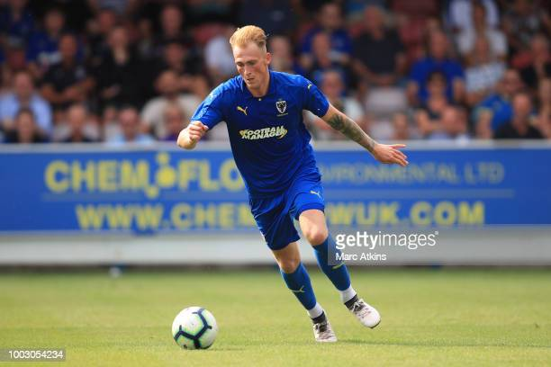 Mitchell Pinnock of AFC Wimbledon during the pre season friendly match between AFC Wimbledon and Brighton and Hove Albion at The Cherry Red Records...