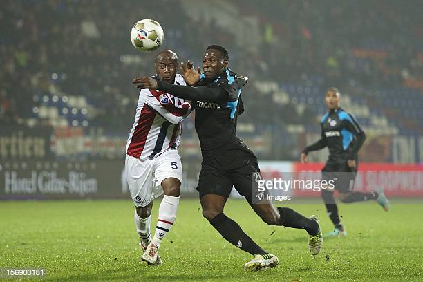 Mitchell Pique of Willem II Geoffrey Castillion of Heracles Almelo during the Dutch Eredivisie match between Willem II and Heracles Almelo at the...