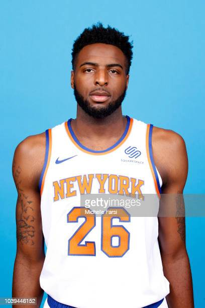 Mitchell Robinson of the New York Knicks poses for a head shot during the New York Knicks Media Day on September 24 2018 at the MSG Training Facility...
