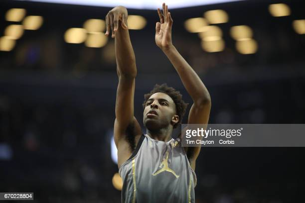 Mitchell Robinson of W Kentucky in action during the Jordan Brand Classic National Boys Team AllStar basketball game at The Barclays Center on April...