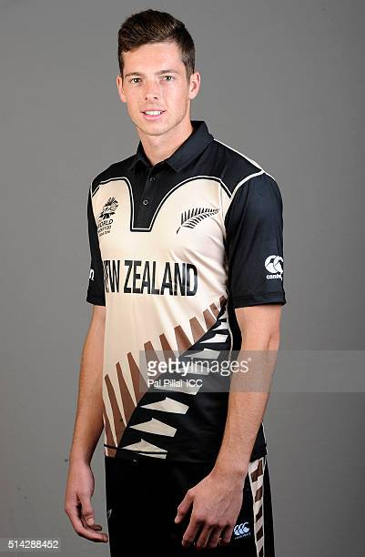 Mitchell Santner of New Zealand poses during the official photocall for the ICC Twenty20 World on March 8 2016 in Mumbai India