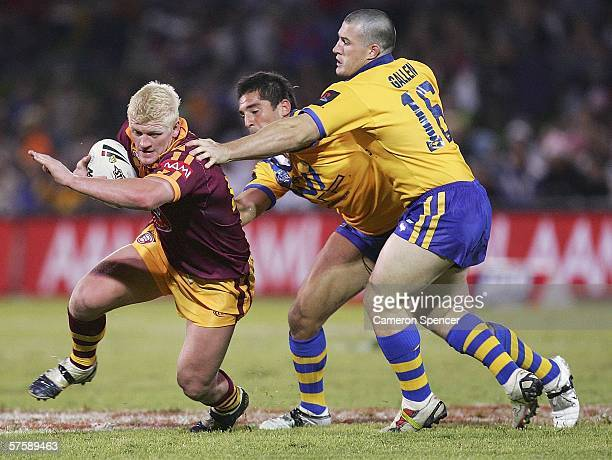 Mitchell Sargent of Country slips through the City defence during the NRL City v Country Origin match at Apex Oval May 12 2006 in Dubbo Australia