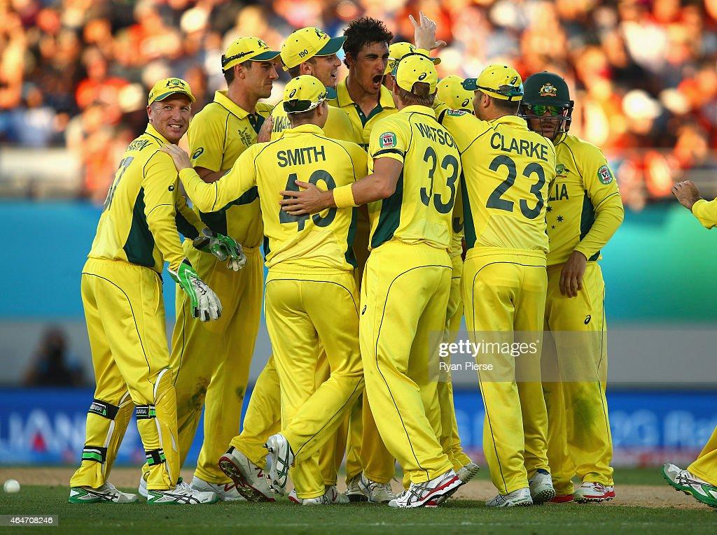 Australia v New Zealand - 2015 ICC Cricket World Cup : News Photo