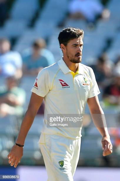 Mitchell Starc of Australia during day 1 of the 3rd Sunfoil Test match between South Africa and Australia at PPC Newlands on March 22 2018 in Cape...