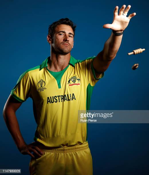 Mitchell Starc of Australia poses during an Australia ICC One Day World Cup Portrait Session on May 07 2019 in Brisbane Australia