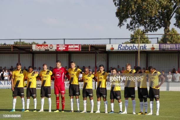 Mitchell te Vrede of NAC Breda Fabian Sporkslede of NAC Breda Arno Verschueren of NAC Breda NAC Breda goalkeeper Aro Muric Menno Koch of NAC Breda...
