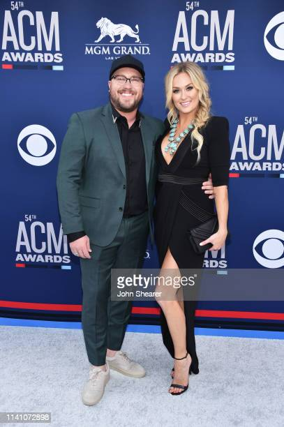 Mitchell Tenpenny and Meghan Patrick attend the 54th Academy Of Country Music Awards at MGM Grand Hotel Casino on April 07 2019 in Las Vegas Nevada