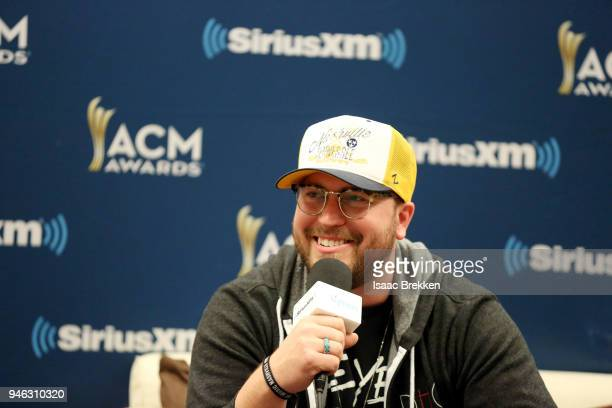 Mitchell Tenpenny attends SiriusXM's The Highway channel broadcast backstage at the Academy of Country Music Awards on April 14 2018 in Las Vegas...