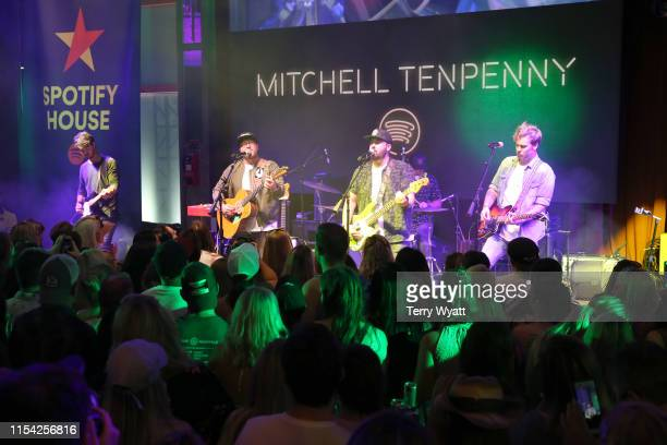 Mitchell Tenpenny performs on stage at Spotify House during CMA Fest at Ole Red on June 6 2019 in Nashville Tennessee