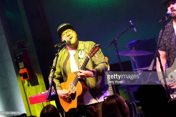 Mitchell Tenpenny performs on stage at Spotify House during CMA Fest at Ole Red on June 06 2019 in Nashville Tennessee