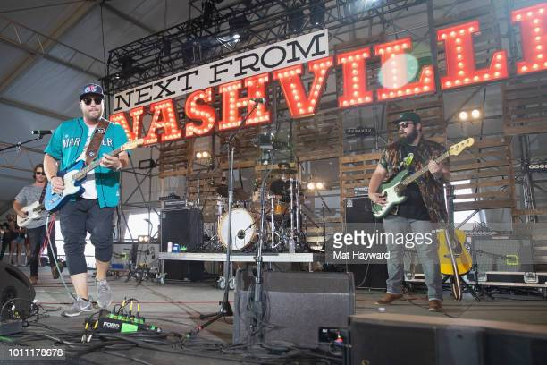 Mitchell Tenpenny performs on the 'Next from Nashville' stage during the Watershed Music Festival at the Gorge Amphitheatre on August 4 2018 in...