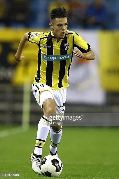 Mitchell van Bergen of Vitesse Arnhemduring the Dutch Eredivisie match between Vitesse Arnhem and FC Groningen at Gelredome on October 01 2016 in...