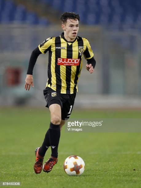 Mitchell van Bergen of Vitesse during the UEFA Europa League group K match between SS Lazio and Vitesse Arnhem at Stadio Olimpico on November 23 2017...