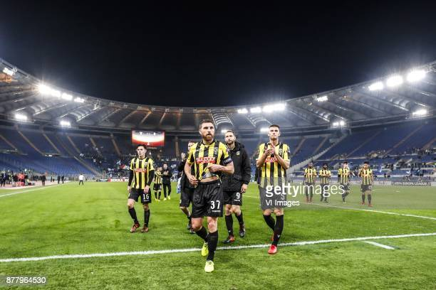 Mitchell van Bergen of Vitesse Guram Kashia of Vitesse Tim Matavz of Vitesse Matt Miazga of Vitesse during the UEFA Europa League group K match...