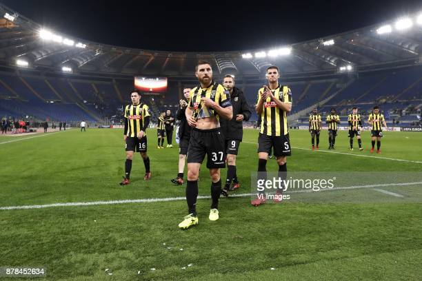 Mitchell van Bergen of Vitesse Julian Lelieveld of Vitesse Guram Kashia of Vitesse Tim Matavz of Vitesse Luc Castaignos of Vitesse Matt Miazga of...