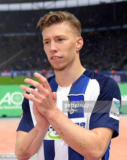 Mitchell Weiser of Hertha BSC during the Bundesliga match between Hertha BSC and Hamburger SV on October 1 2016 in Berlin Germany