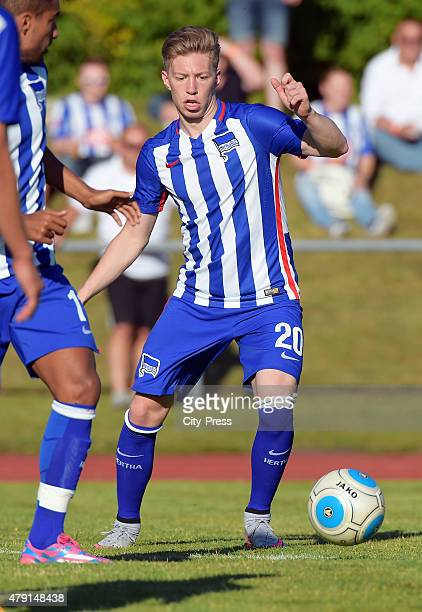 Mitchell Weiser of Hertha BSC during the game between dem 1. FC Luebars and Hertha BSC on July 1, 2015 in Berlin, Germany.