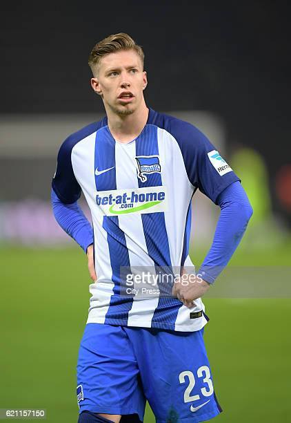 Mitchell Weiser of Hertha BSC during the game between Hertha BSC and Borussia Moenchengladbach on november 4 2016 in Berlin Germany