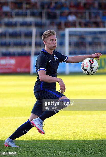Mitchell Weiser of Hertha BSC during the game between SV Groedig and Hertha BSC on july 21, 2015 in Schladming, Austria.