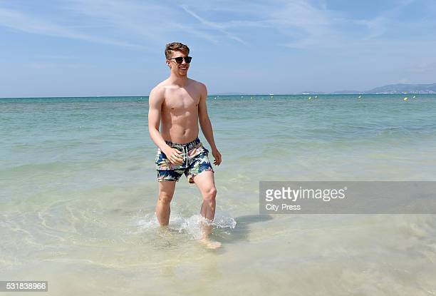 Mitchell Weiser of Hertha BSC during the graduation ride of Hertha BSC on may 17 2016 in Palma de Mallorca Spain