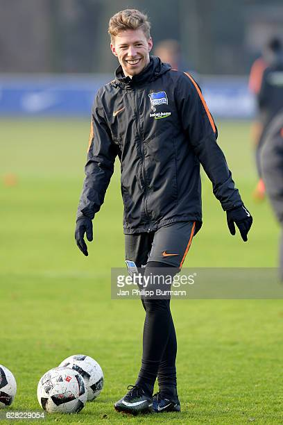 Mitchell Weiser of Hertha BSC during the training on december 7 2016 in Berlin Germany