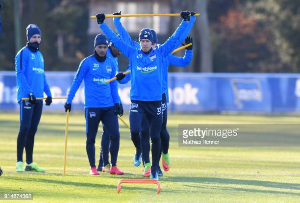 Mitchell Weiser of Hertha BSC during the training session at the Schenkendorfplatz on february 6 2018 in Berlin Germany
