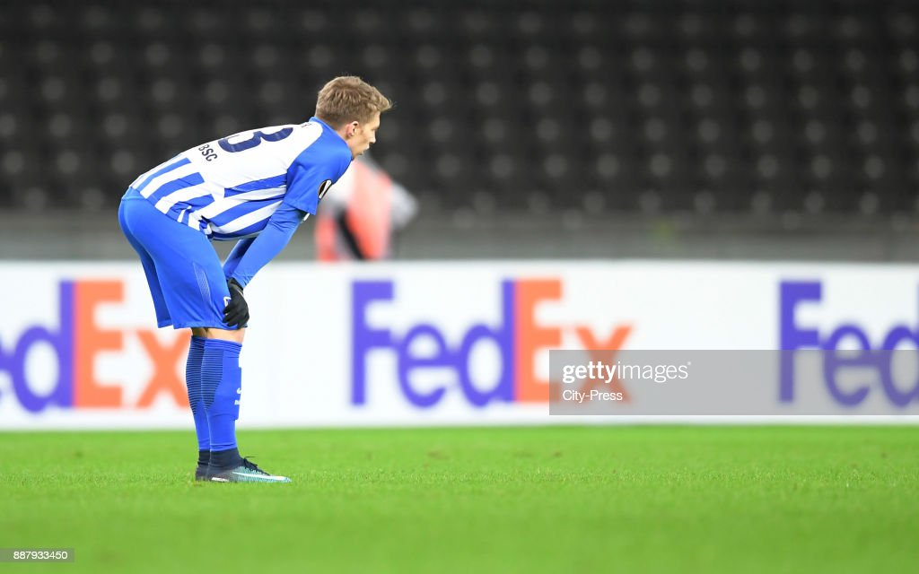 Mitchell Weiser of Hertha BSC during the UEFA Europa League, Group J match between Hertha BSC and Oestersunds FK on December 7, 2017 in Berlin, Germany.