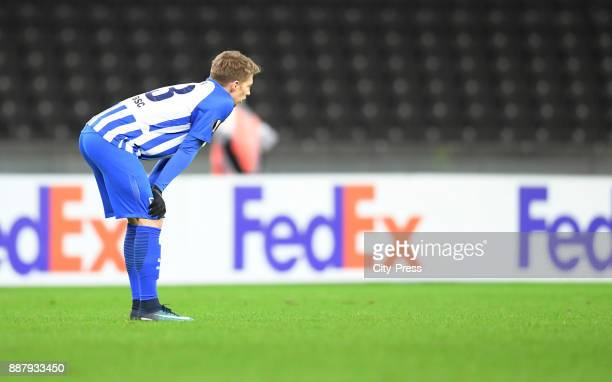 Mitchell Weiser of Hertha BSC during the UEFA Europa League Group J match between Hertha BSC and Oestersunds FK on December 7 2017 in Berlin Germany