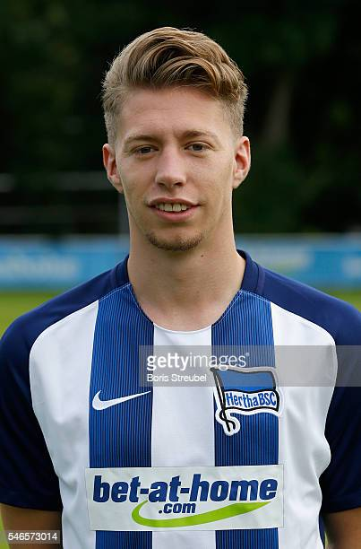Mitchell Weiser of Hertha BSC poses during the Hertha BSC Team Presentation on July 12 2016 in Berlin Germany