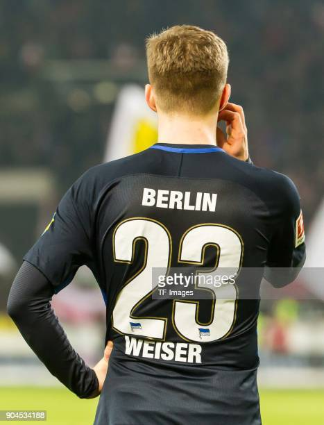 MitchellElijah Weiser of Hertha looks dejected during the Bundesliga match between VfB Stuttgart and Hertha BSC at MercedesBenz Arena on January 13...