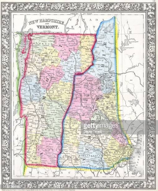 World\'s Best Vermont Map Stock Pictures, Photos, and Images ...