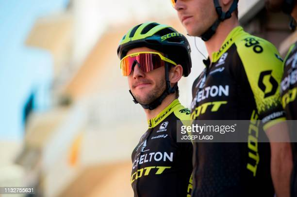 Mitchelton Scott's British rider Simon Yates poses during the team's presentation before the start of the first stage of the 99th Volta Catalunya...