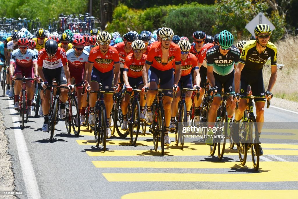 Mitchelton-Scott rider Jack Bauer of New Zealand rides to lead the ... b1891c9ee