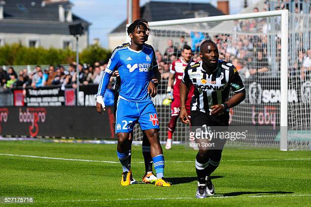 Mitchy Batshuayi during the French Ligue 1 match between Angers SCO and Olympique de Marseille on May 1 2016 in Angers France