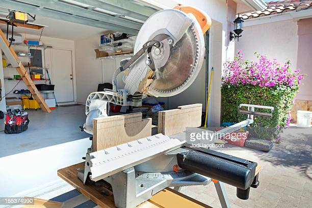 miter saw - mitre stock photos and pictures
